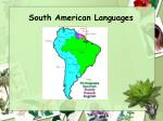 south american languages1