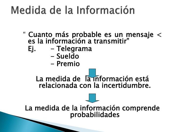 Medida de la Información