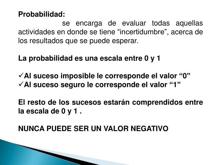 Probabilidad: