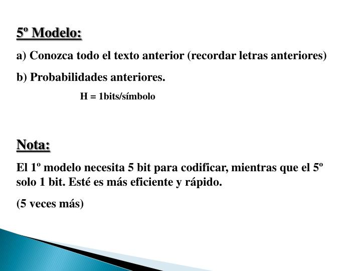 5º Modelo: