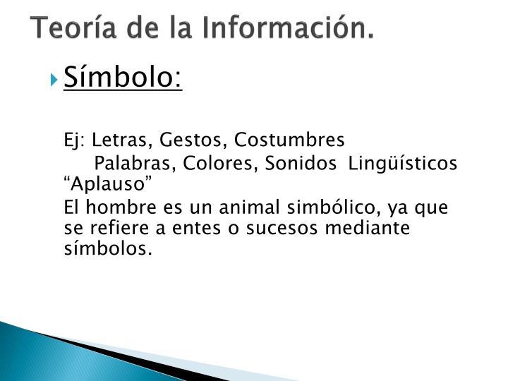 Teoría de la Información.