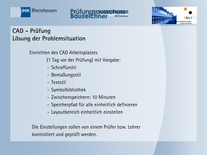 CAD - Prüfung