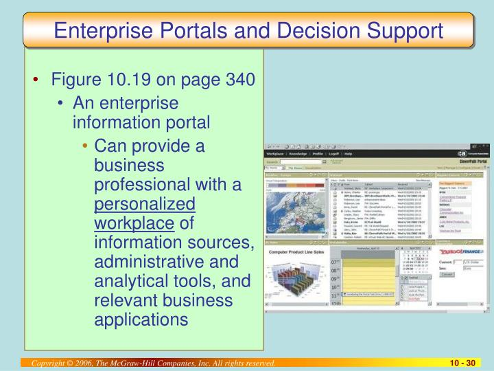 Enterprise Portals and Decision Support