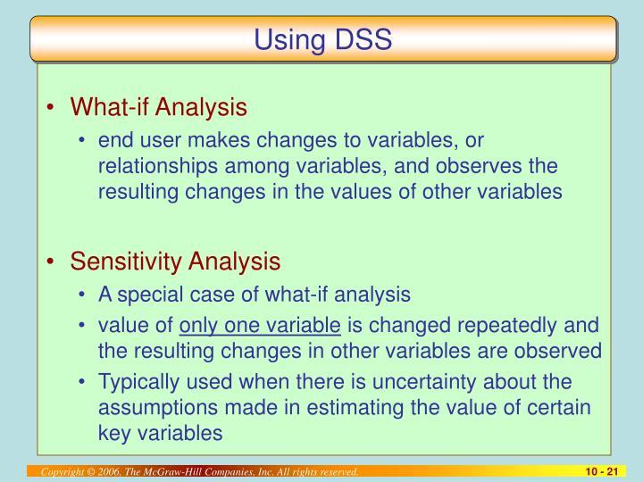 Using DSS