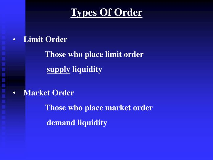 Types Of Order