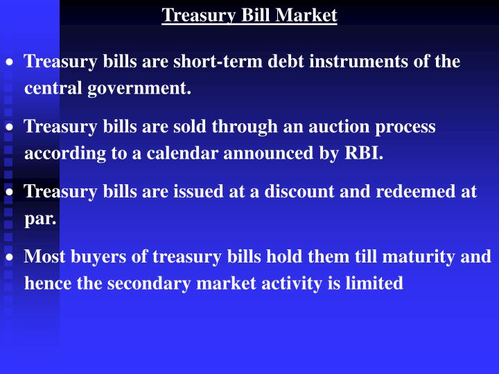 Treasury Bill Market