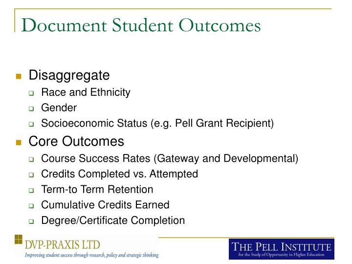 Document Student Outcomes