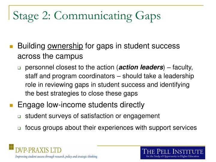 Stage 2: Communicating Gaps