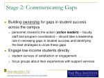 stage 2 communicating gaps