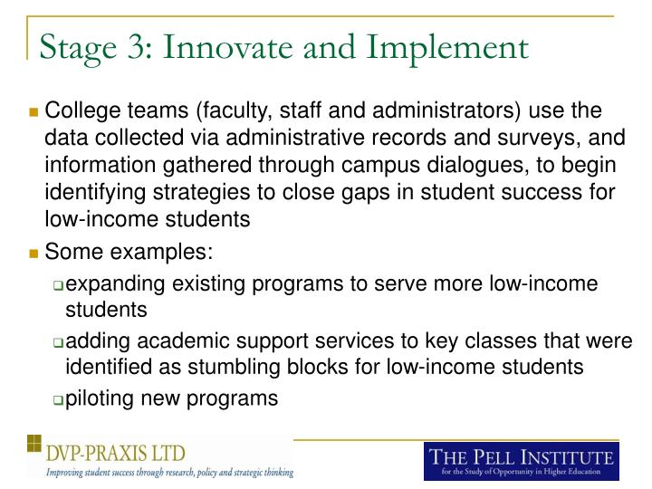 Stage 3: Innovate and Implement