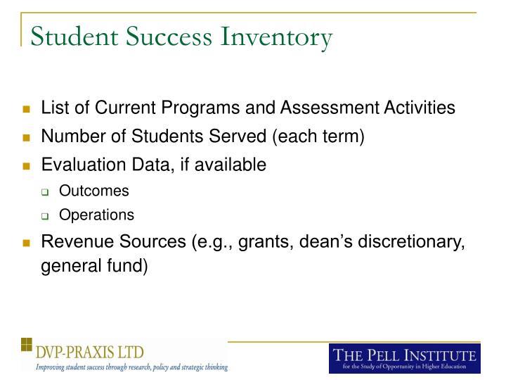 Student Success Inventory