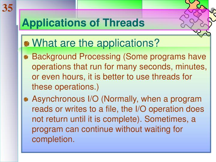 Applications of Threads