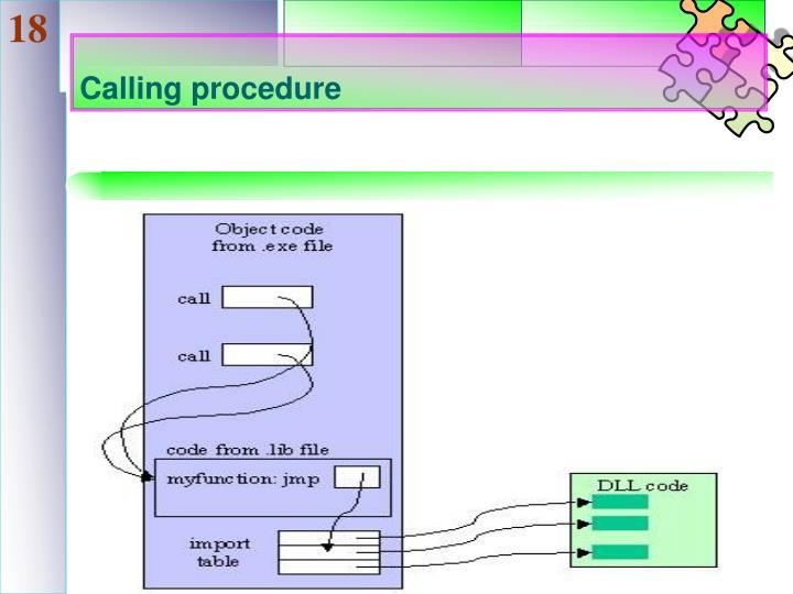 Calling procedure