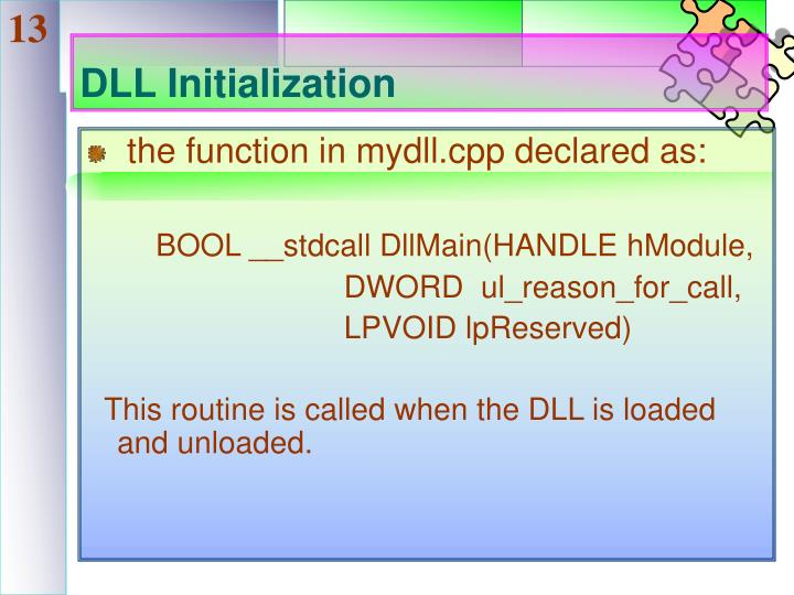DLL Initialization