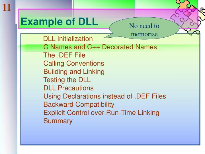 Example of DLL