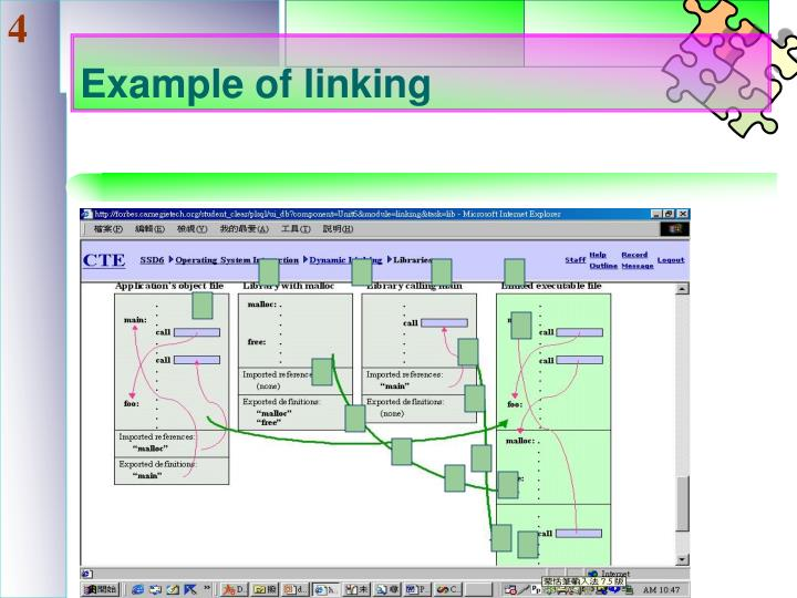 Example of linking
