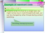 example of reentrant code