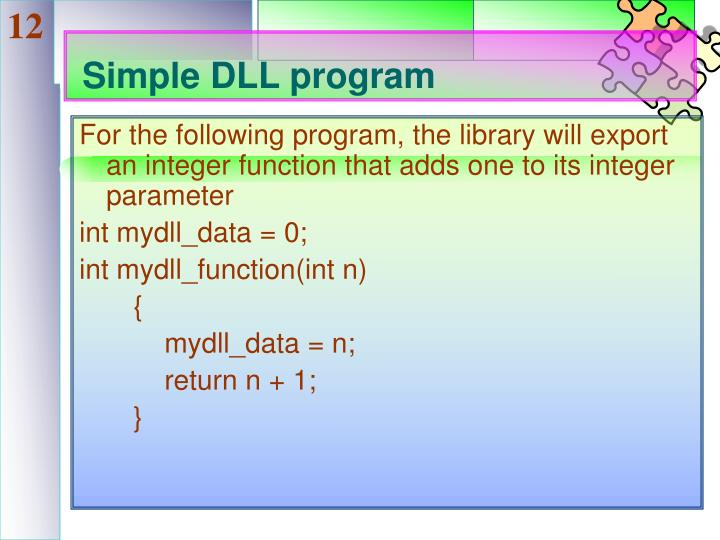 Simple DLL program