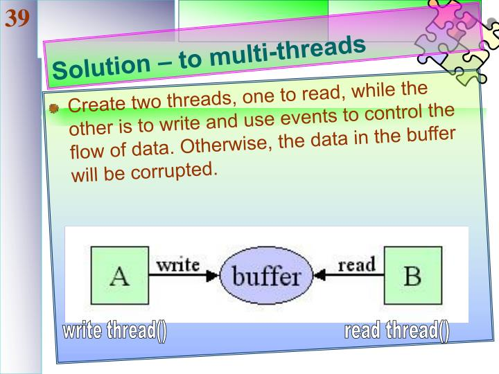 Solution – to multi-threads