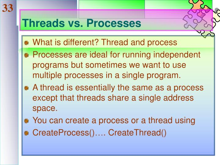 Threads vs. Processes
