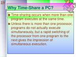 why time share a pc