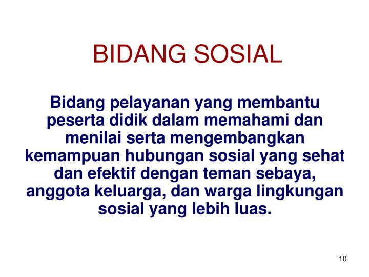 BIDANG SOSIAL