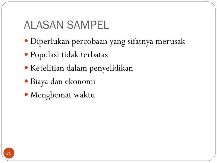 ALASAN SAMPEL