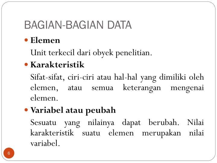 BAGIAN-BAGIAN DATA