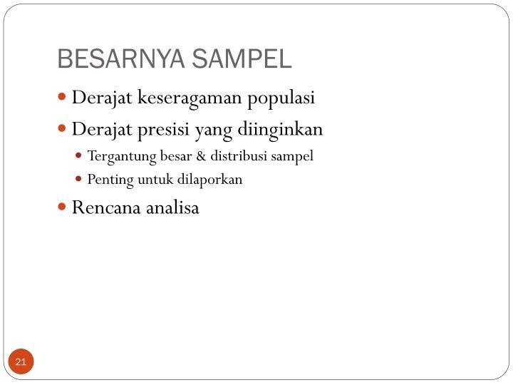 BESARNYA SAMPEL