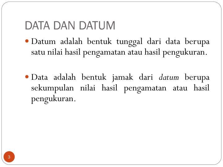 DATA DAN DATUM