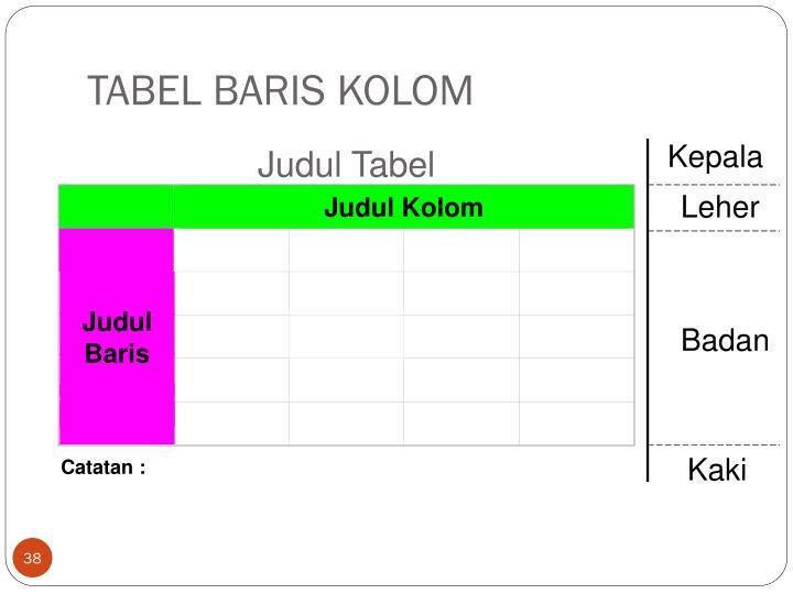 Judul Kolom