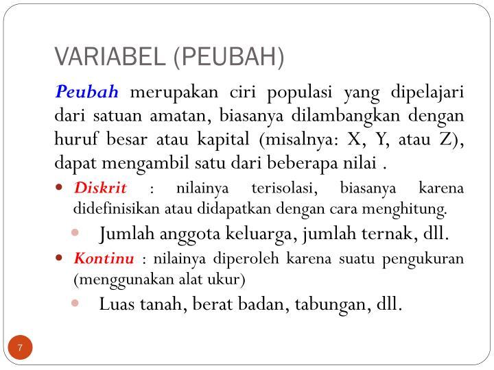 VARIABEL (PEUBAH)