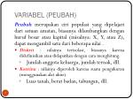 variabel peubah
