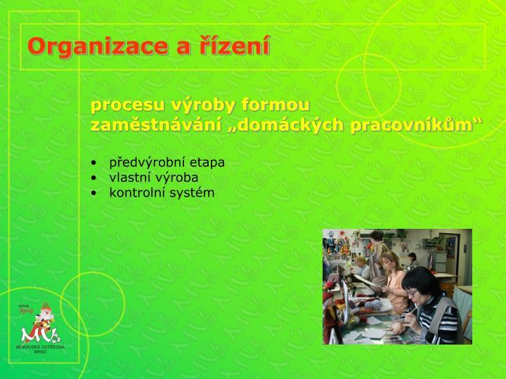Organizace a řízení