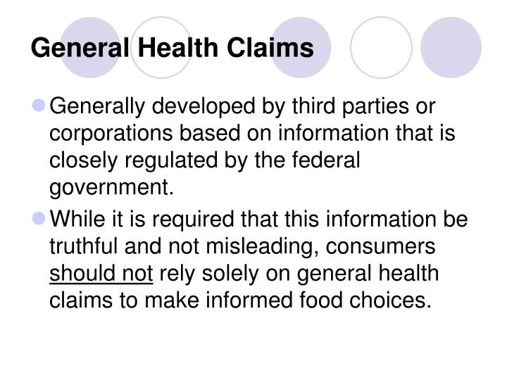 General Health Claims