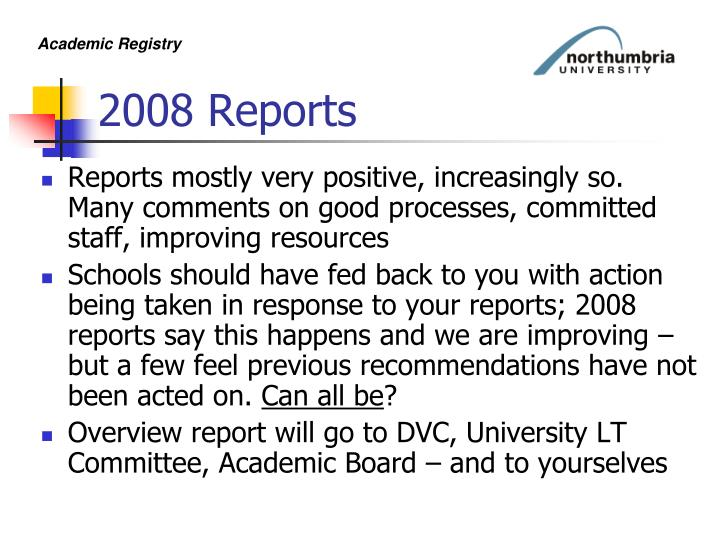 2008 Reports