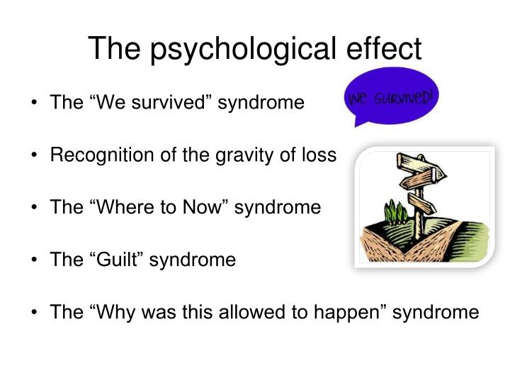 The psychological effect