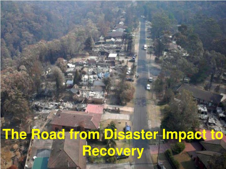 The road from disaster impact to recovery