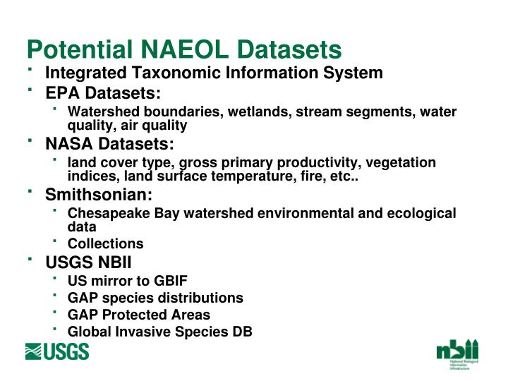 Potential NAEOL Datasets