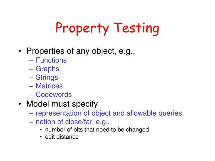 Property Testing