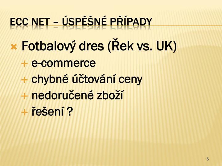 Fotbalový dres (Řek vs. UK)