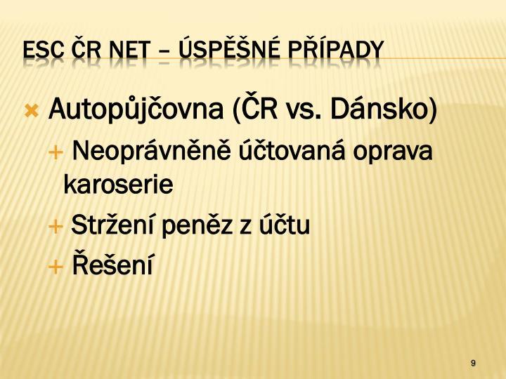 Autopůjčovna (ČR vs. Dánsko)