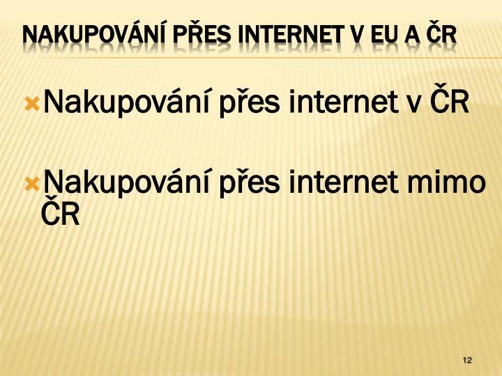 Nakupování přes internet v ČR