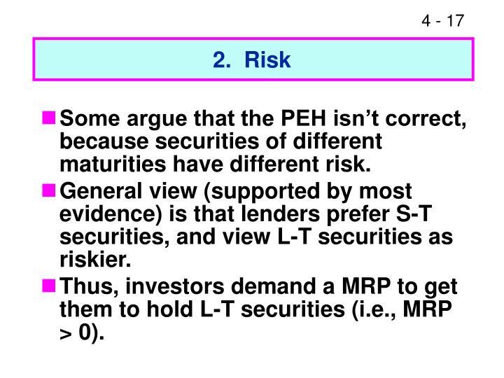 2.  Risk