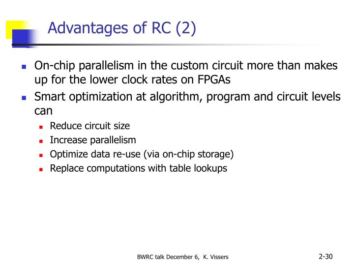 Advantages of RC (2)