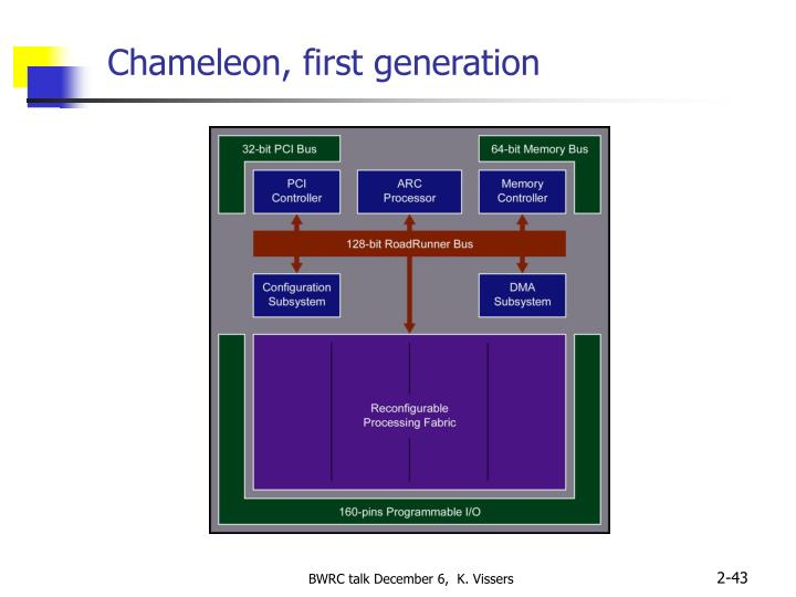 Chameleon, first generation