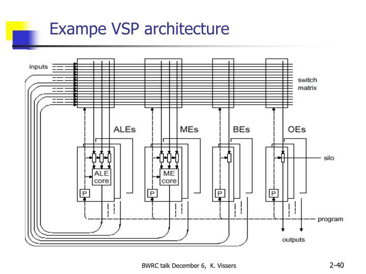 Exampe VSP architecture