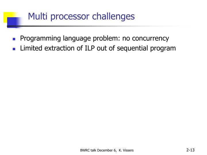 Multi processor challenges