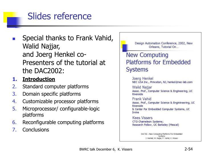 Slides reference