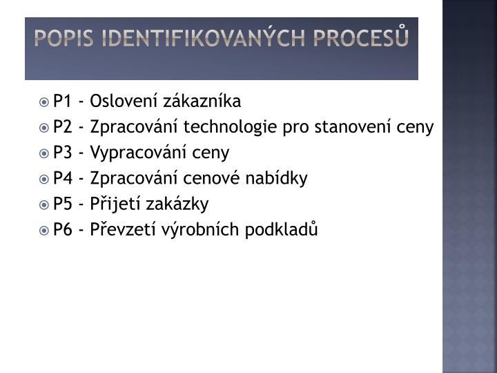 Popis Identifikovaných procesů